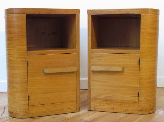 509: Matching Pair of Donald Deskey Night Stands 1930's