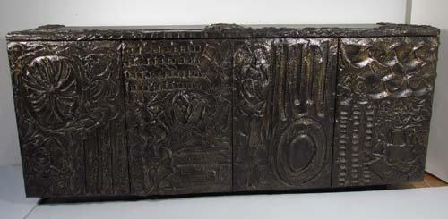 512: Paul Evans Sculpted Bronze Cabinet