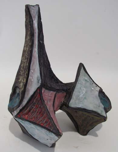 513: Marcello Fantoni glazed stoneware Sculptural Vase