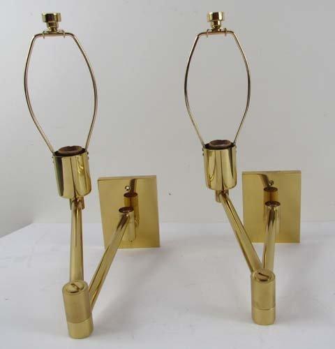 516: Pr Geo. Hansen Swing Arm Wall Mounted Lamps & Shad
