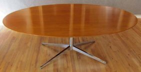 Florence Knoll Oval Shaped Conference Table
