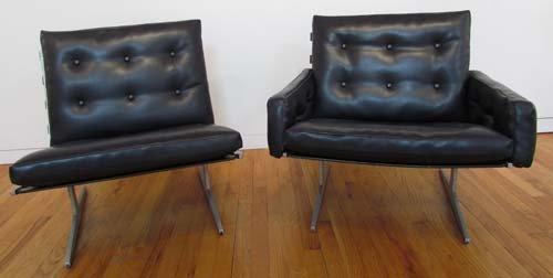 528: Pr Paul Leidersdorff Lounge Chairs ca 1965