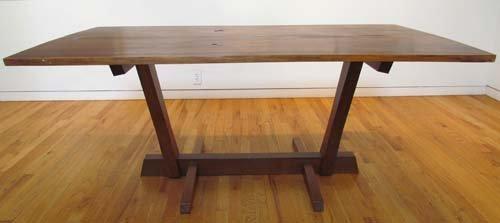 539: GEORGE NAKASHIMA Walnut Conoid dining table