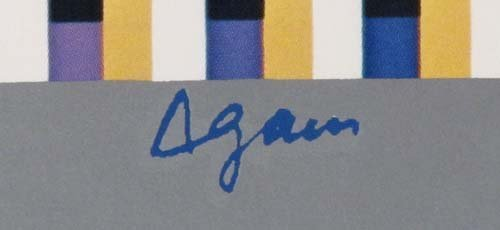 """593: Yaacov Agam offset lithograph """"Flags of All Nation - 3"""