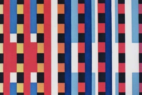 """593: Yaacov Agam offset lithograph """"Flags of All Nation - 4"""