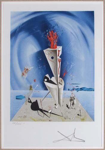 647: Salvador Dali lithograph, Apparatus and Hand