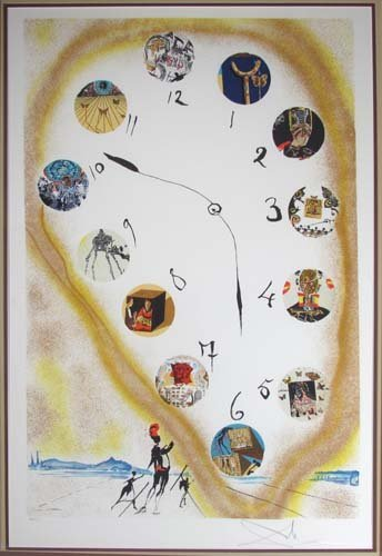 648: Salvador Dali lithograph, Time and Space