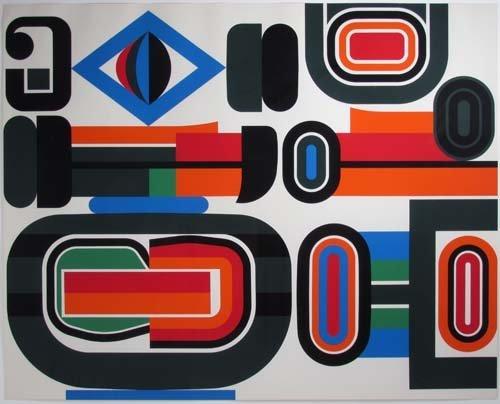 "654: Jean Dewasne original serigraph ""Aurora-set"""