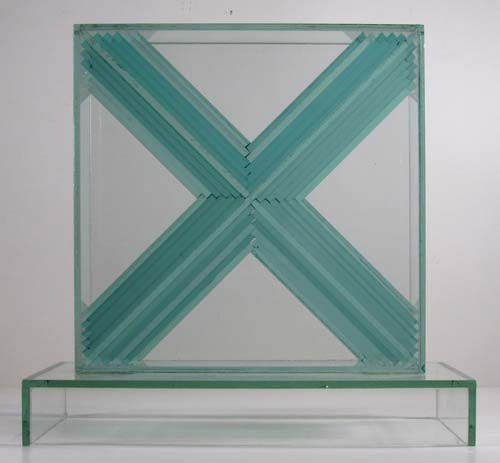 775: John Seitz  Glass collage Sculpture