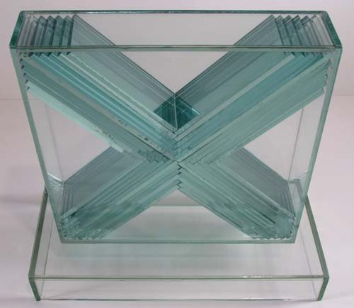 775: John Seitz  Glass collage Sculpture - 3