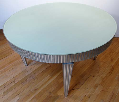 452: Art deco mirrored table retailed  Edward Hardy S.F