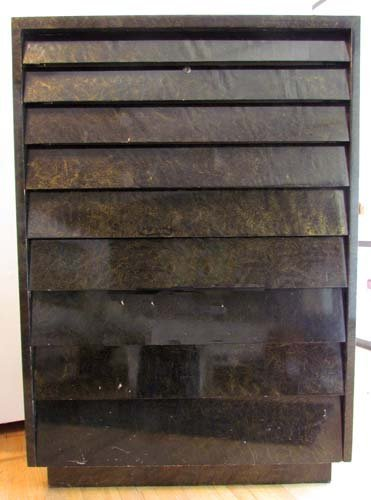 453: Tall Art Deco lacquered chest of drawers