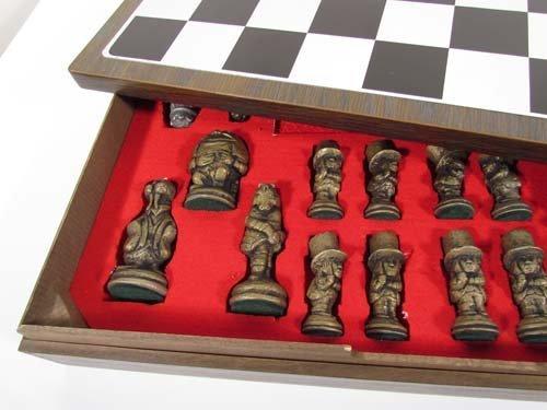 456: Prototype Alcoa Aluminum Alice In Wonderland Chess