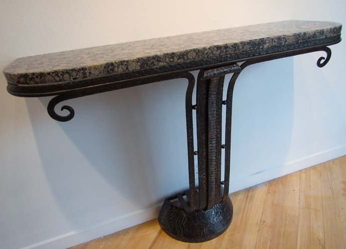 457: Art Deco bronze and marble Console Table in the St