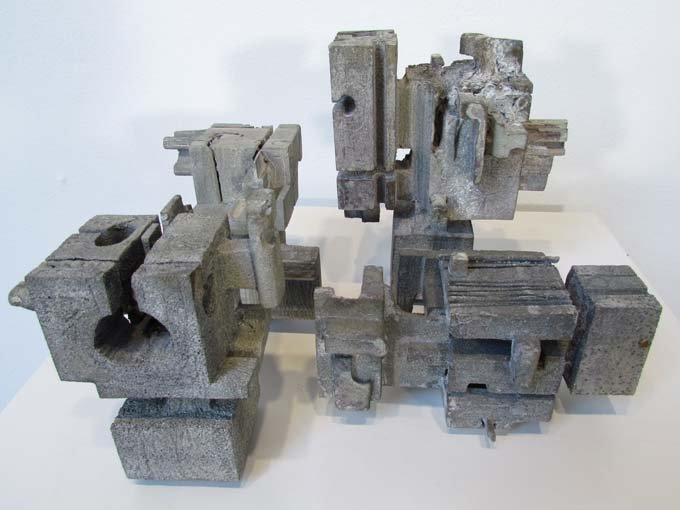 460: 4 Don Drum Cast Aluminum Sculptures