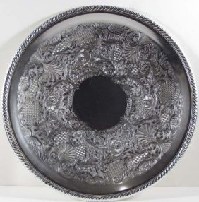 Arthur Amour Art Deco Aluminum Platter W/2 Others