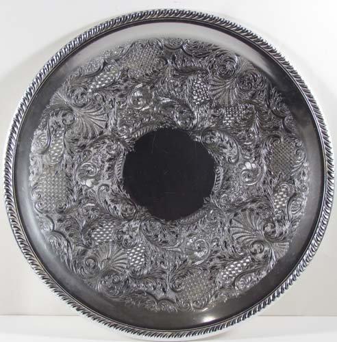 519: Arthur Amour Art Deco Aluminum Platter w/2 others