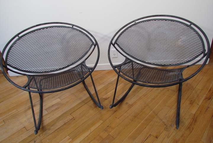 470: pair of Salterini wrought iron Rockers