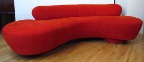 VLADIMIR KAGAN For DIRECTIONAL; Bright Red Microfi