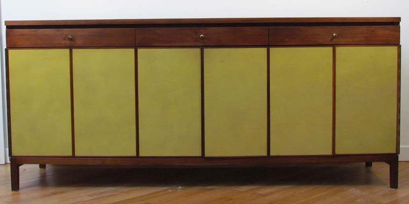 478: Paul McCobb for Calvin leather fronted credenza