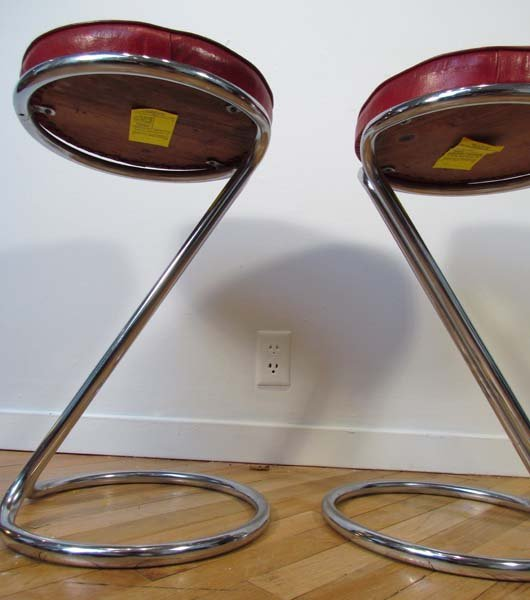 """482: Pair """"Z"""" stools by Gilbert Rohde for Troy Sunshade - 5"""