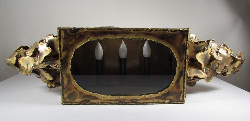483: Modern Three Candle Electrified Wall Sconce