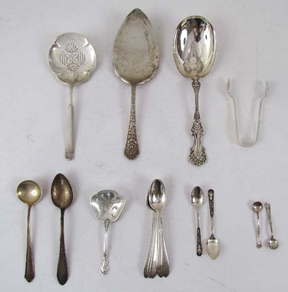 5: 16 assorted sterling service spoons