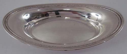 10: Sterling Silver Oval Serving Dish