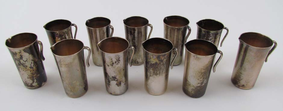 16: 11 Vintage Reed & Barton Mini. Liq. Pitchers
