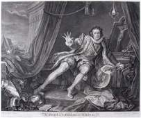 60 William Hogarth engraving Mr Carrick in Character