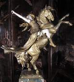 104: Louis Chalon Gilt-Bronze and Ivory La Walkyrie