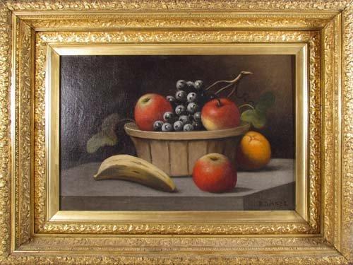 177: B.S. Hays oil of Fruit Basket Still Life