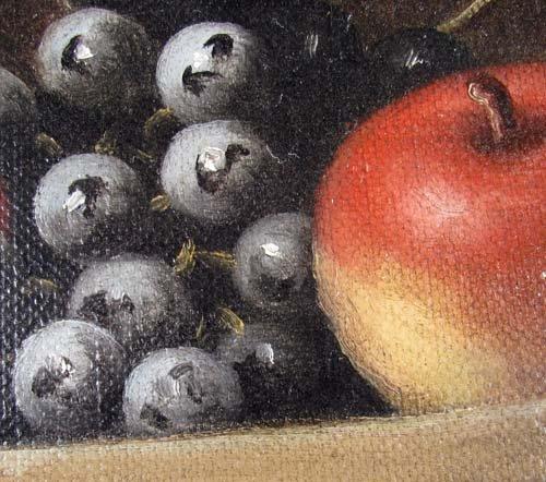177: B.S. Hays oil of Fruit Basket Still Life - 5