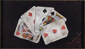 "178: John Bond Francisco early trompe l'oeil ""Full Hous"
