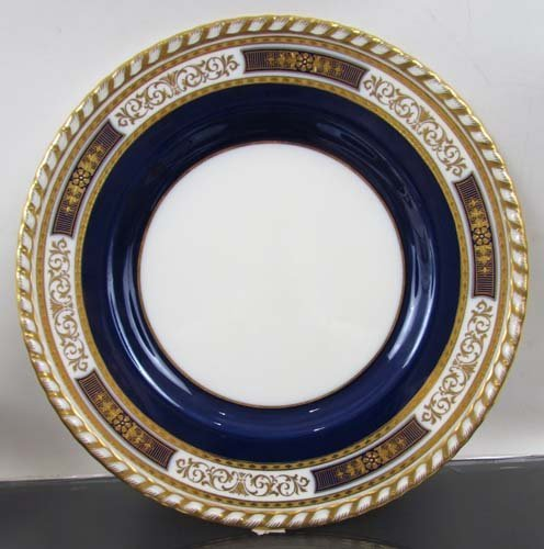 332:  11 Minton Plates for Tiffany & Co., NYC. Cobalt B