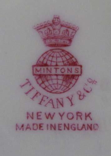 332:  11 Minton Plates for Tiffany & Co., NYC. Cobalt B - 4