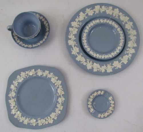 335: Wedgwood Cream on Lavender Embossed Queensware #22