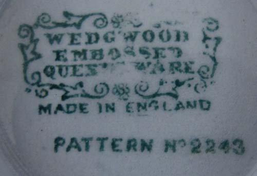 335: Wedgwood Cream on Lavender Embossed Queensware #22 - 4