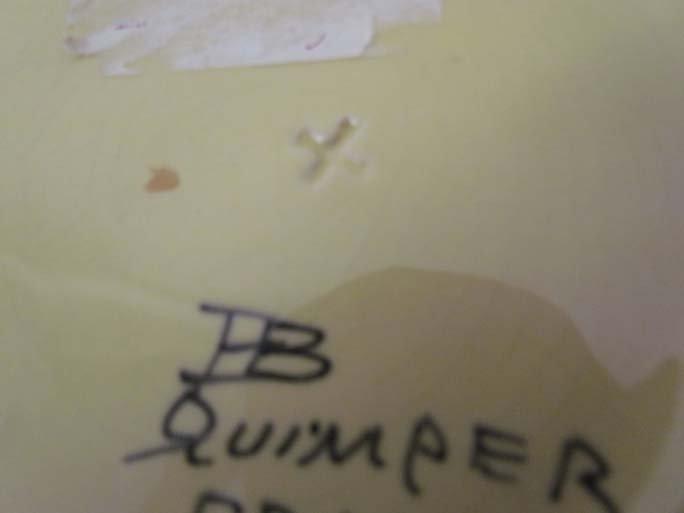 510: Pair Quimper faience pottery plates - 10