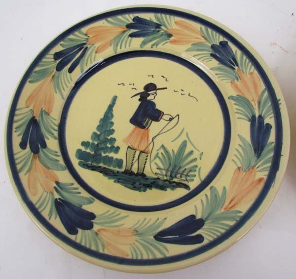 510: Pair Quimper faience pottery plates - 2