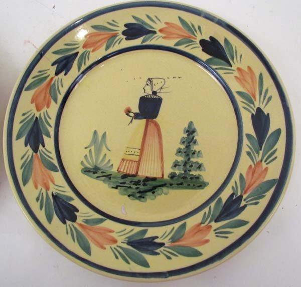 510: Pair Quimper faience pottery plates - 3