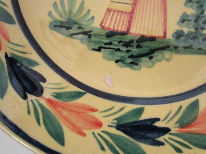 510: Pair Quimper faience pottery plates - 4