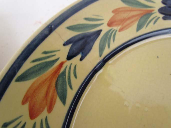 510: Pair Quimper faience pottery plates - 5