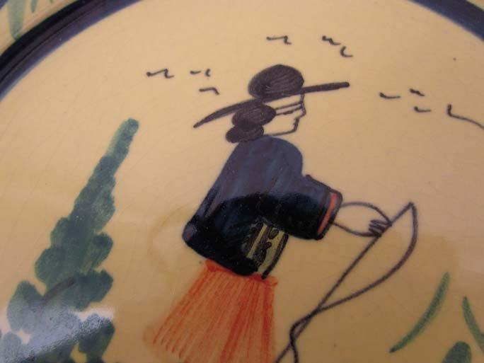 510: Pair Quimper faience pottery plates - 6