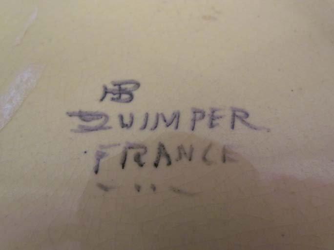 510: Pair Quimper faience pottery plates - 9