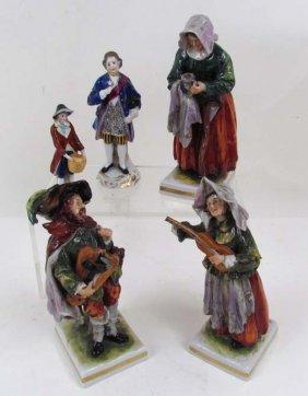 515: 6 European Ceramic Figures, Chelsea Porcelain Fact