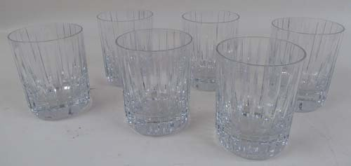 527: Baccarat Old Fashioned Glasses Set of 6