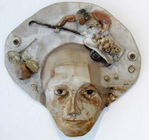 2: Marco Celotti Ceramic Face Wall Relief