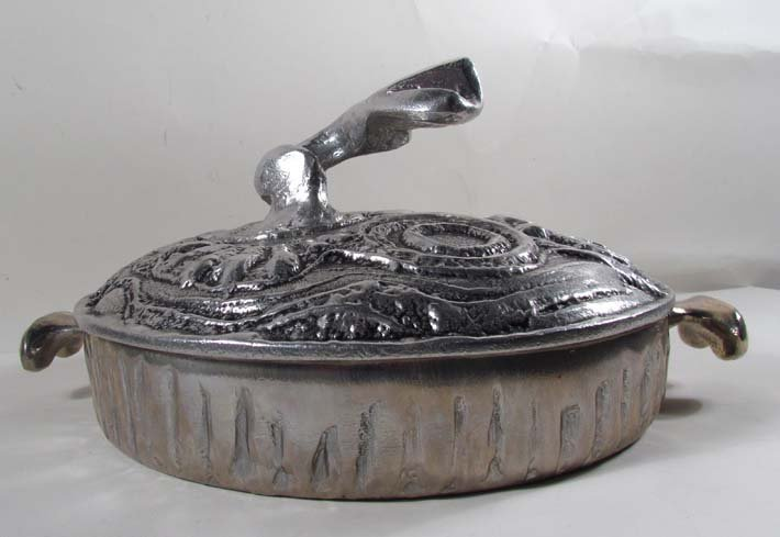 7: Don Drumm aluminum cooking sculpture - 2
