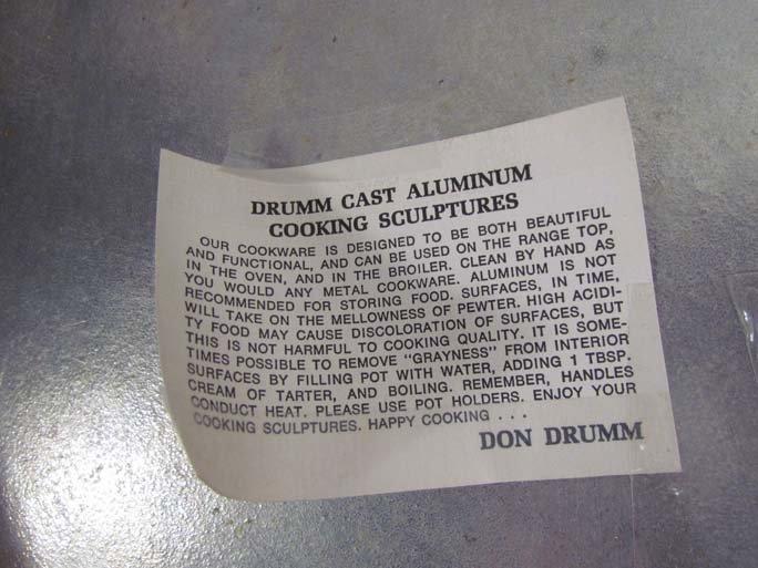 7: Don Drumm aluminum cooking sculpture - 7